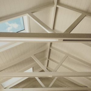 Timber framed constrution for ceiling